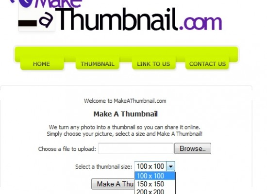 Resize Images or Create Thumbnails of Your Photos Online