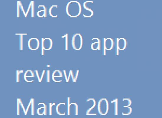 Mac OS – Top 10 Apps – 2013
