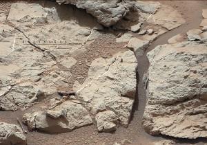 Mars Curiosity-Calcium Sulphate