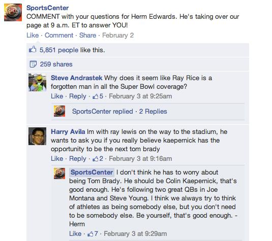 Facebook Replies 1