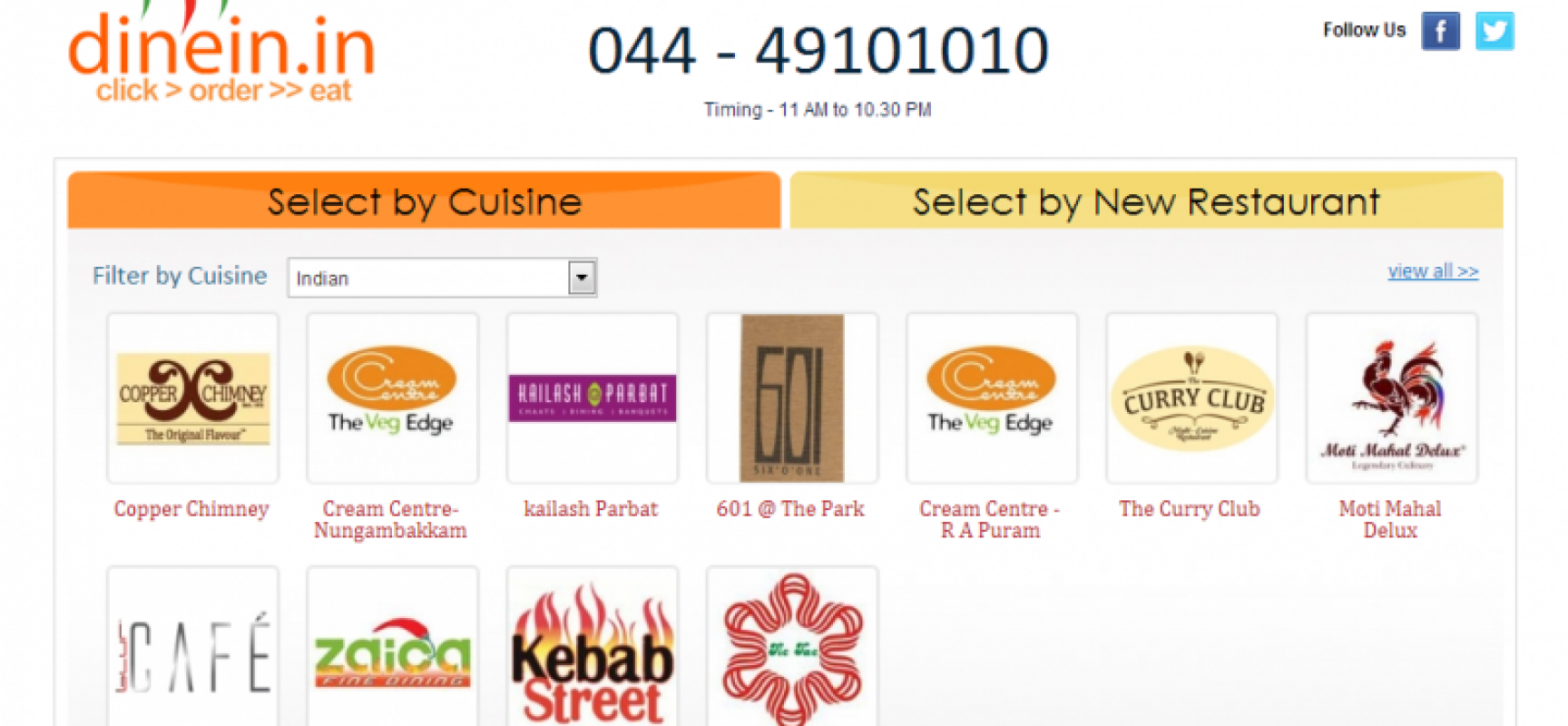 Chennai Online Food Ordering Services