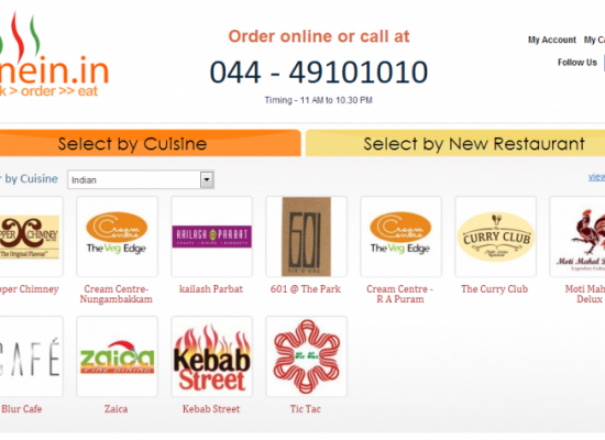 Top 4 Online Food Ordering Services in Chennai