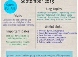 All-India Blogging Contest By Durofy – September 2013