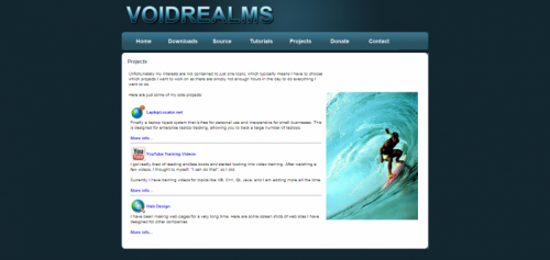 Projects - voidrealms programming