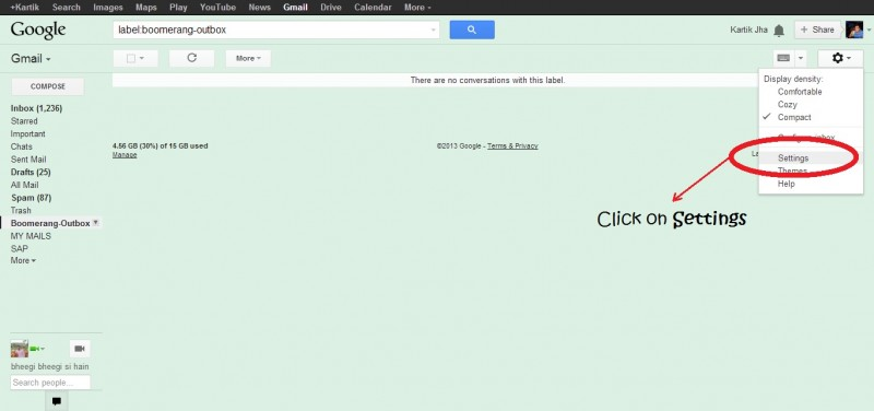 2 click on settings after gear