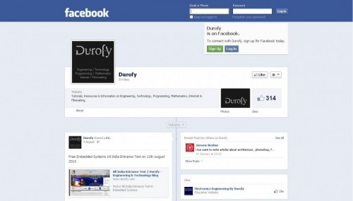 Durofy's Facebook Page: Viewable by public.
