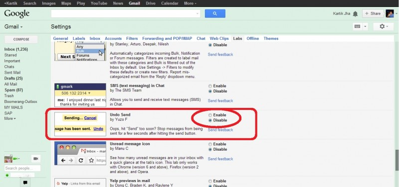 4 search for undo send