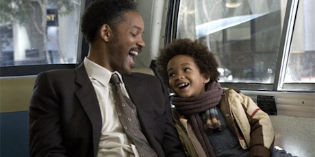 A still from the movie Pursuit of Happyness.