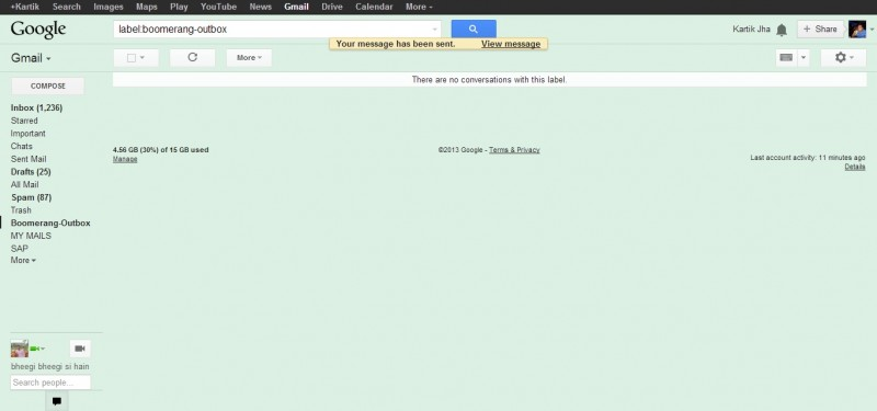 9 sent successfully