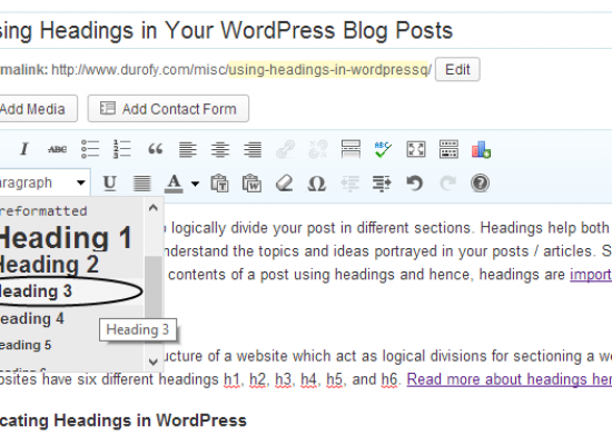 Using Headings in Your WordPress Blog Posts