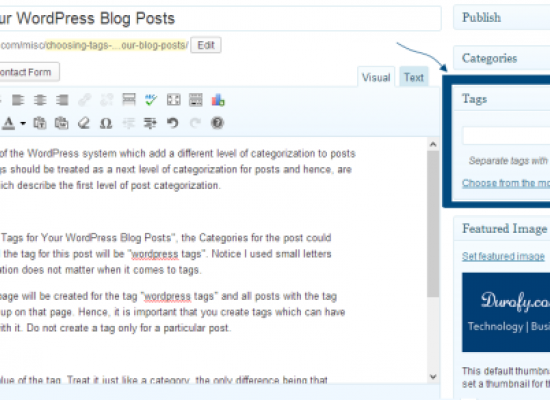 Using Tags in Your WordPress Blog Posts