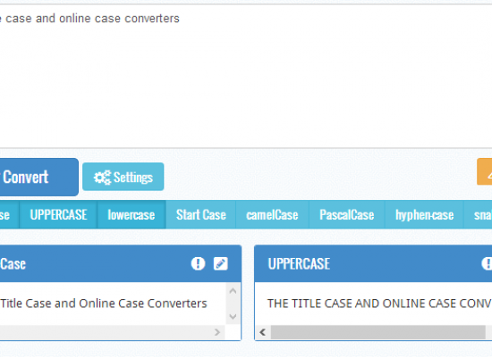 The Title Case and Online Case Converters