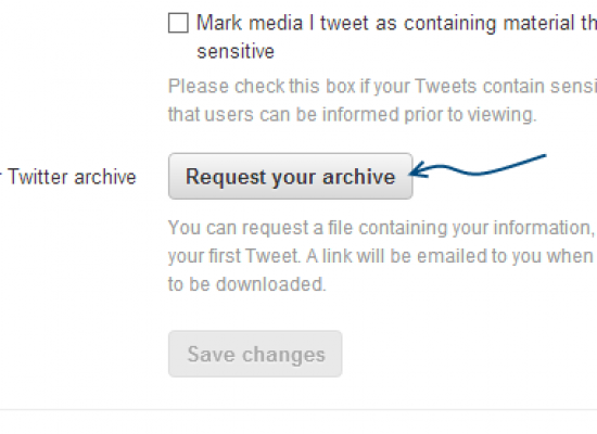 How to Download your Twitter Archive