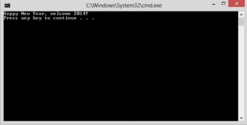 command prompt output screen