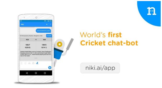 World's First Cricket Chatbot – niki.ai